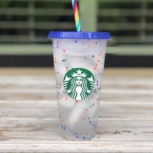 Starbucks Confetti Cup Color Changing - No Straw